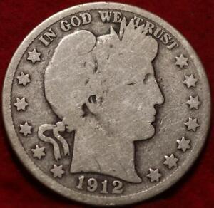 1912-D Denver Mint Silver Barber Half Dollar