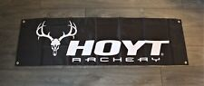 New Hoyt Archery Banner Flag 1.5 x 5 Bow & Arrow Archer Man Cave Hunting Sports
