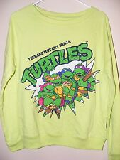 NEW TMNT Teenage Mutant Ninja Turtles JRS Light Neon Sweater MEDIUM (7/9) - N23