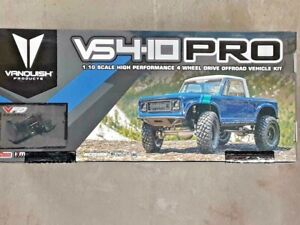 Vanquish Products VS4-10 Pro Rock Crawler Kit w/Origin Half Cab Body Silver New!