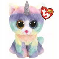 "TY Beanie Boos 6"" HEATHER Cat Unicorn UniCat Plush Stuffed Animal Toy MWMTs"