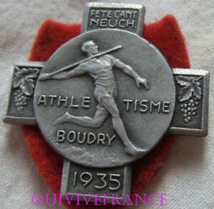 BG8030 - INSIGNE BADGE ATHLETISME BOUDRY 1935 - NEUFCHATEL SUISSE