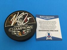 Victor Stalberg 2013 Stanley Cup Champions Puck Signed Auto Beckett BAS COA