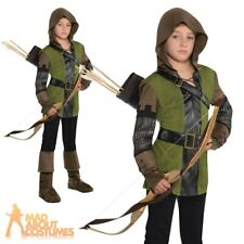 Robin Hood Boys Fancy Dress Prince of Thieves Book Day Kid Childrens Costume Age 8 - 10 Years