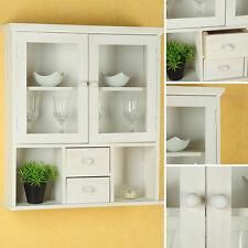 h ngeschr nke im landhaus stil mit glasfront ebay. Black Bedroom Furniture Sets. Home Design Ideas