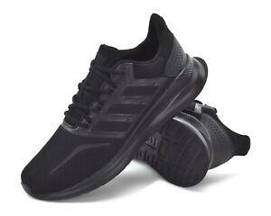 adidas RunFalcon Mens Trainers All Black G28970 Mens Lightweight Sports Trainers