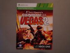 XB360 RAINBOW SIX: VEGAS 2 (2008) XBOX ONE Game MICROSOFT Digital Download Card