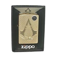 *RARE* Zippo - Armor Lighter w/ Carved Assassins Creed Logo 29519 NEW. FREE SHIP