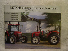ZETOR RANGE 1 SUPER TRACTORS 43 to 81 HP  2002 sales brochure w/ specifications