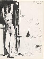 PABLO PICASSO - 25.12.53 - VALLAURIS erotic * HELIOGRAVURE from VERVE 1954 suite