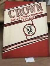 Crown Office Supply Company Catalog No. 88, 1939
