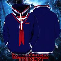 New Stranger Adult Things Cosplay Steve Sailor Suit Pullover Hoodie Coat Costume