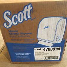 Scott Manual Slimroll* Towel Dispenser BLACK mod 47089 FAST SHIPPING