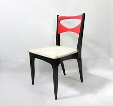 Vtg 60s Drexel Mid Century Modern MCM Wood Desk Chair Reading Chair Leather Seat