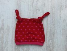 Knotenmütze Baby Mütze Mädchen Jersey 35-37cm rot / pink Punkte handmade