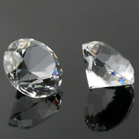 60mm Glass Crystal Diamond Shape Paperweight Gem Display Ornament