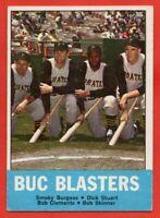 1963 Topps #18 Buc Blasters EX/EX+ Roberto Clemente Pittsburgh Pirates FREE SHIP