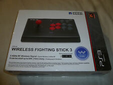 BOXED PS3 WIRELESS FIGHTING STICK 3 HORI CONTROLLER CONTROL FIGHTSTICK JAPAN >>
