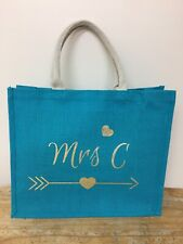Personalised jute bag, shopper bag, beach bag, Shopping Bag, Individual,hen Bag