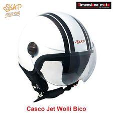 Casco JET Con Visiera SKA-P WOLLI BICO Bianco/Antracite Metal Taglia S 55 cm
