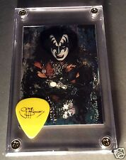 LOOK - KISS Gene Simmons promo guitar pick / card display #46 - Great Gift!!!