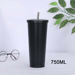 750ML Keep Hot and Cold Stainless Steel Cup Double Layer Vacuum Coffee Cup-New