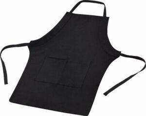 Grillschürze Kochschürze schwarz zum umhängen