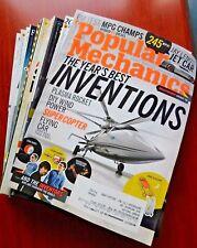 Lot of 11) Popular Mechanics magazines - 2009-2010 inventions flight energy cars