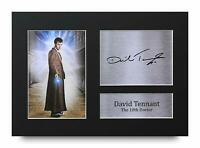 David Tennant Doctor Who Signed A4 Framed Printed Autograph Poster Print Gift