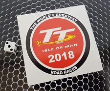 Isle Of Man TT Road Races 2018 sticker  7-10 year vinyl eco solvent inks