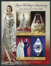 Tuvalu Royalty Stamps 2018 MNH Queen Elizabeth II & Philip Royal Wedding 4v M/S