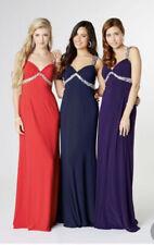 Tiffany sienna Prom Black Cut Out Back Long Dress size 6 BNWT