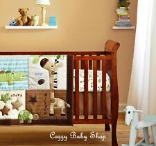 BABY Bedding Set Crib Cot Quilt 7pc Nursery Bumper Nappy Stacker GIRAFFE STARS