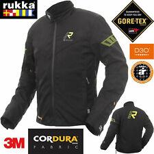 RUKKA Gore-Tex Motorradjacke START-R schwarz gelb Cordura D3O Protektoren Gr. 54