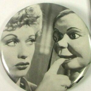 VTG Pin Button Movie Pinback Look Who's Talking Lucille Ball Charlie McCarthy