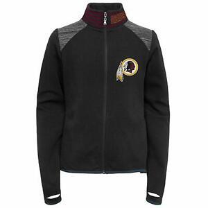 Outerstuff NFL Football Youth Girls Washington Redskins Aviator Full Zip Jacket