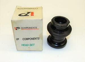 "~ NOS VP Components Beartrap Style Road BMX Headset 1"" JIS Black - Tioga Tange ~"