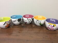 DISNEY LOT Of Ceramic Bowls/Coffee Mugs Cups Micky Minnie Goofy Daisy Pluto