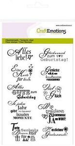 Motiv-Stempel Set 10St. Glückwunsch deutsche Texte CraftEmotions 130501/1154