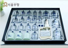 Seoul Buhang Cupping Therapy Set 28 Cups Vacuum Massage Treatment Made in KOREA