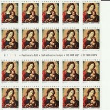 CHRISTMAS MADONNA AND CHILD STAMP BOOKLET -- USA #3675 37 CENT CHRISTMAS