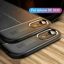 For Apple iPhone SE 2nd Gen 2020 Luxury Slim Rubber Leather Soft Skin Case Cover