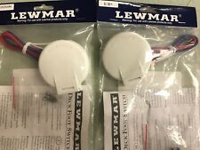 WINDLASS FOOT SWITCHES WHITE UP DOWN SET W/CAP LEWMAR 239 68000918 68000917 BOAT