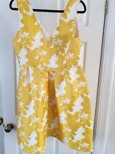 Yellow/white Dress Size 16 NEW Next