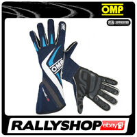FIA OMP One-S RACE one s Karthandschuh Handschuhe Professionell Sport Blau