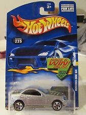 Hot Wheels Mercedes SLK #225 Silver Race & Win card