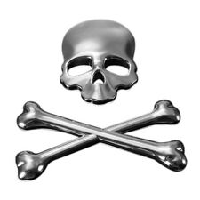 3D Logo Skeleton Skull Bone Emblem Badge Sticker For Car Auto Motor Metal D M3F5