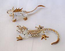 Glass Reptile Figurines, Frilled Lizard, Alligator