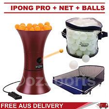 iPong Pro Ping Pong Robot/Trainer+Catching Net+100x 1 Star White Balls Formula