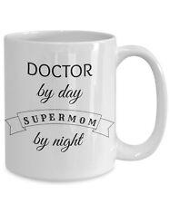 Doctor Super Mmom Mug, Fun Novelty 15oz White Ceramic Physician Coffee Tea Cup